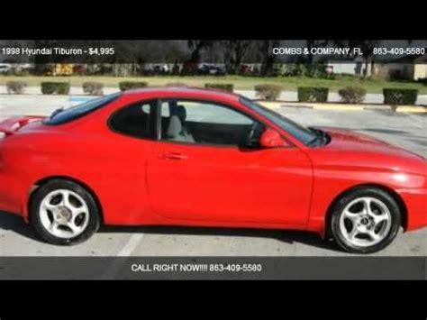 1998 Hyundai Tiburon by 1998 Hyundai Tiburon For Sale In Lakeland Fl 33813
