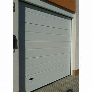 Porte de garage manuelle sectionnelle rainuree 300x200cm for Porte garage sectionnelle manuelle
