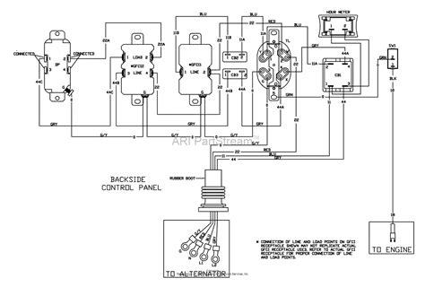 wiring diagram for coleman generator 0525300 19
