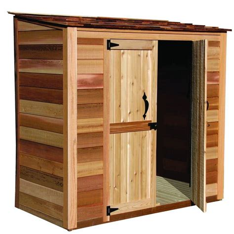 outdoor living today grand garden chalet cedar storage