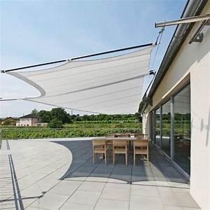 Voile Pour Terrasse : voilage exterieur pour terrasse voile duombrage pour ~ Premium-room.com Idées de Décoration