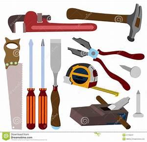 Carpenter tools stock illustration Image of nail