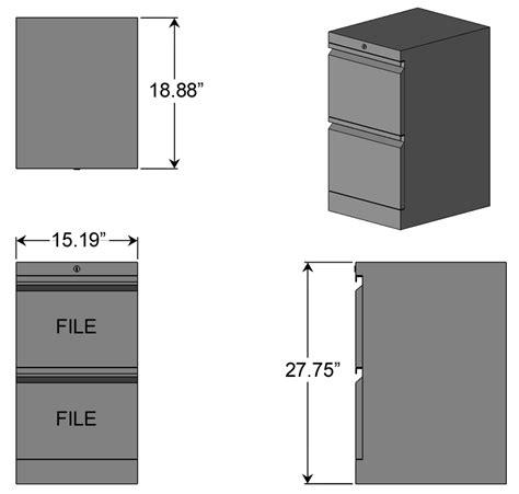 Desk File Cabinet Dimensions by File File Cabinet For L Shaped Desks Caretta Workspace