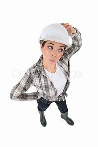 Confused Female Manual Worker