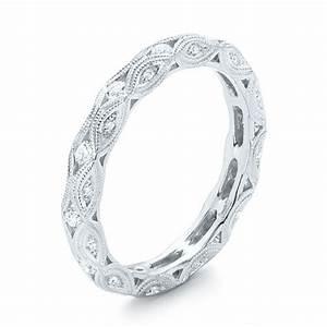 Diamond In Filigree Wedding Band 102787 Seattle