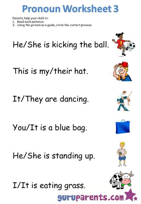 kindergarten worksheets pronoun worksheets pronoun