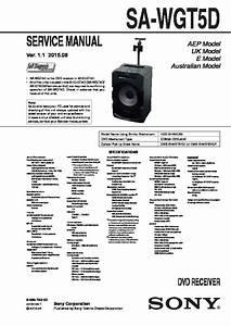 Sony Sa-wgt5d Service Manual