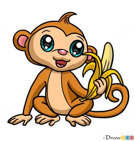 draw monkey chibi