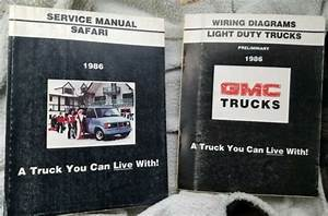 1986 Gmc Safari Light Duty Truck Repair Factory Service
