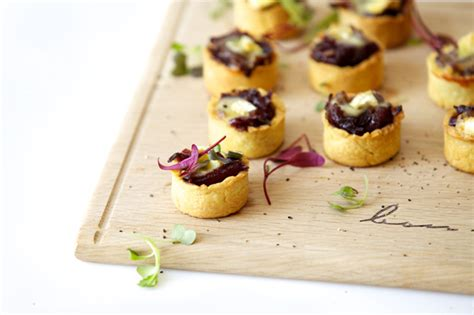 mini canape ideas canapés ideas mini caramelised and brie tartlets