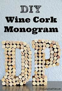 diy wine cork monogram craft crafts monogram letters With wine cork crafts letters