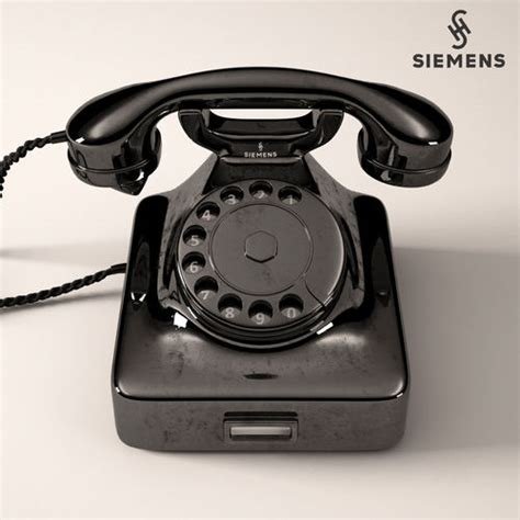retro phone siemens w48 3d cgtrader