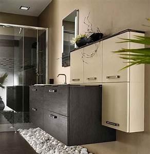 meuble de salle de bain beige et marron style moderne et With meuble zen et nature