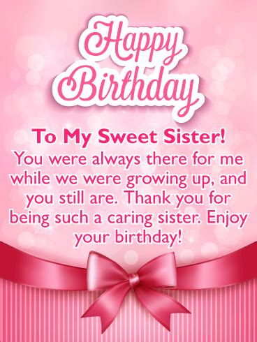 birthday cards   sister card design template