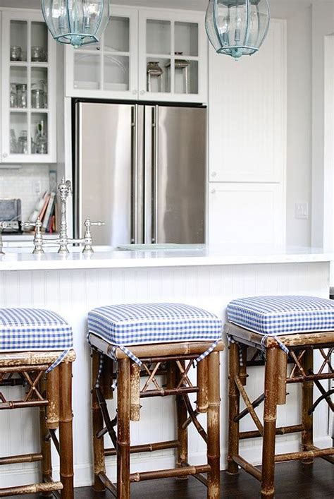 blue buffalo check bar stools 656 best gingham images on bedroom country 7935