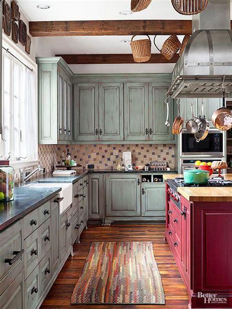 rustic green kitchen cabinets rustic kitchen ideas cuivre vert et placards 4975
