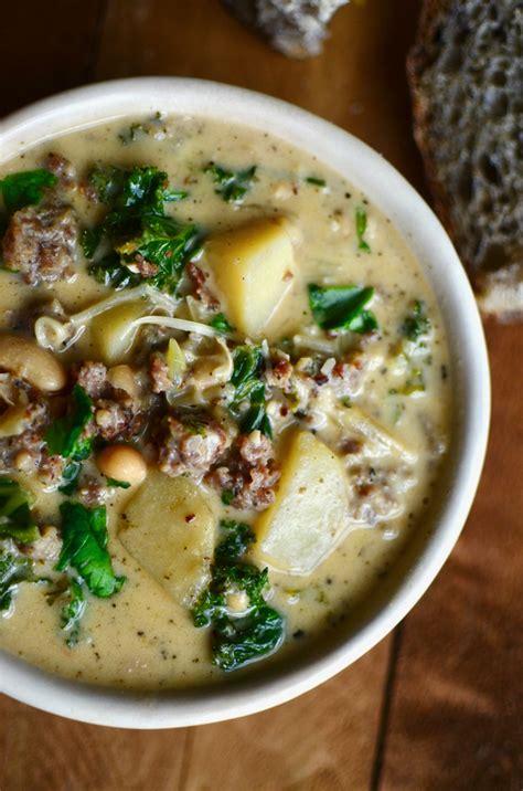 olive garden tuscan soup recipe yammie s noshery zuppa toscana olive garden copycat recipe