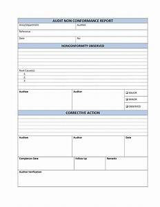 qualified template sample of audit non conformance report With audit follow up template