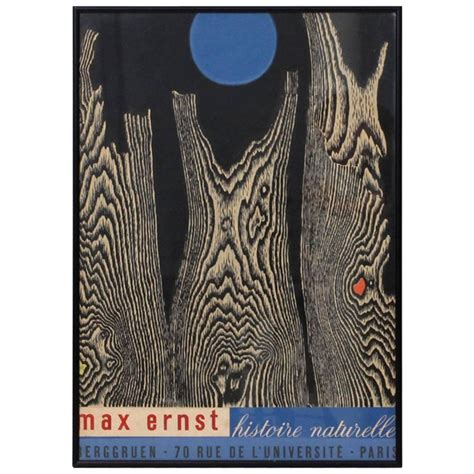 Max Ernst Histoire Naturelle Poster For Sale At 1stdibs