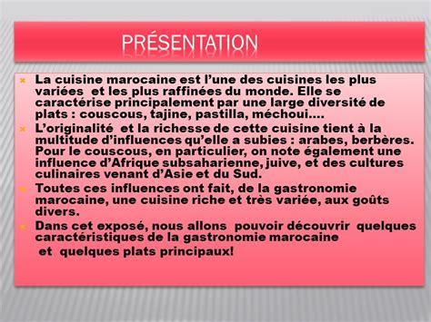 la gastronomie marocaine ppt télécharger