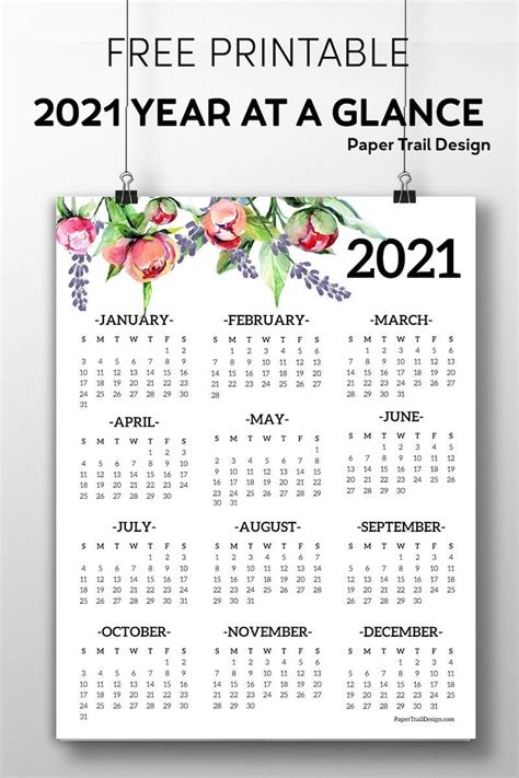 View Printable Free Calendar Yearly 2021  Background