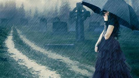Sad, Girl, In, Rain, High, Definition, Full, Screen