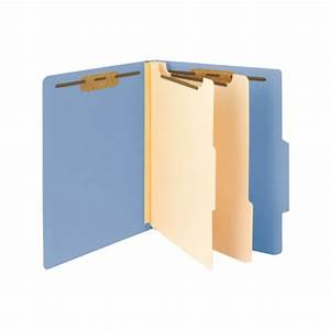 smead 14001 blue classification folder 2 dividers letter With letter file dividers