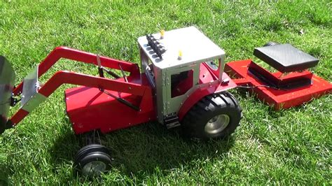 rc lawn mower build test tractor youtube