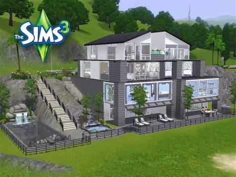 Modernes Haus Let S Build by 2 Modernes Haus Avec Sims 2 H 228 User Ideen Et Sims 2