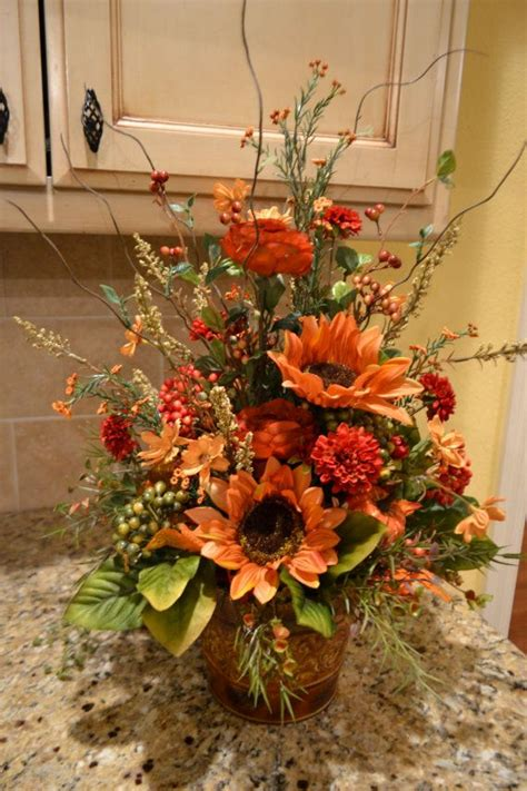 Colors Of Fall Arrangement Thanksgiving Fall Floral