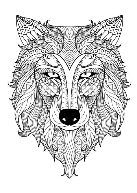 lobos  lobos colorear  adultos