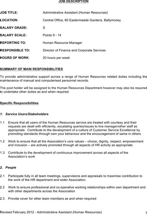 Download Administrative Assistant Job Description Template Word for Free | Page 4 - FormTemplate