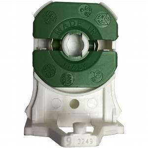 Stucchi 3249-9-s-u-pbt Medium Bi-pin Non-shunted T8 Socket Post Mount - Green