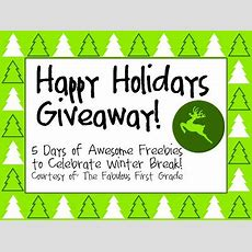 The Fabulous First Grade Happy Holidays Giveaway Day 1