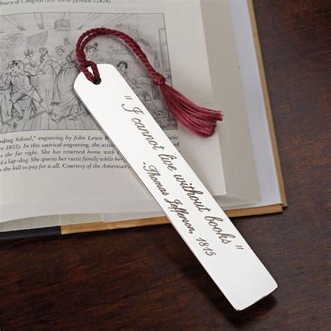 engraved pewter bookmark