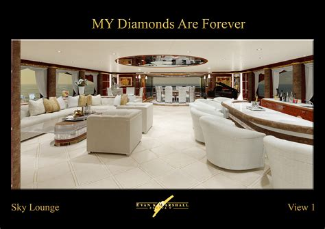 Miami Boat Show Vip Lounge by Benetti 61m Luxury Yacht Diamonds Are Forever Sky Lounge