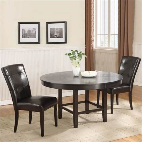Modus Bossa 3 Piece 54 Inch Round Dining Table Set with