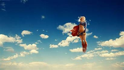 Supergirl Anime Dc Comics Superwoman Wallpapers Flying