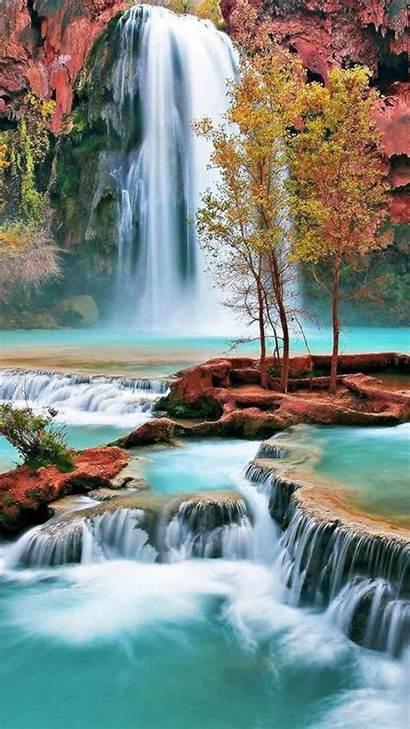 Waterfall Amazing Wallpapers Waterfalls Nature Falls Background