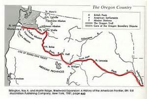 Oregon trail (1907 Map) Oregon