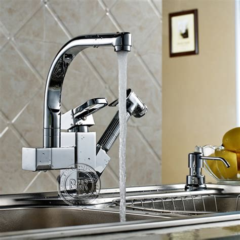 kitchen faucet outlet kitchen faucet kitchen pull tap single handle double outlet tap large orders best selling hot