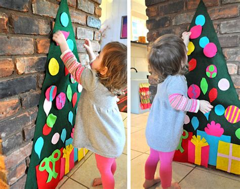 christmas craft felt tree pinpoint