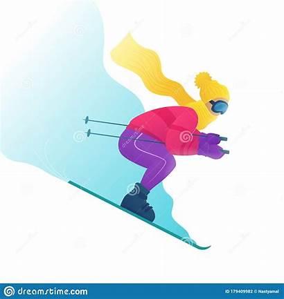 Skier Downhill Ski Goggles Skiing Clothes