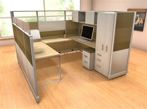 Novo 8x8 Station With Storage Tower Cubicles And