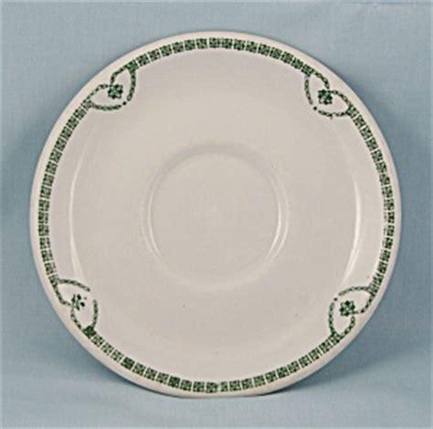 jackson china saucer green nouveau pattern restaurant
