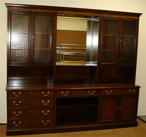 Office Hutch by Baker Furniture Vintage Credenza Office Home Hutch Storage