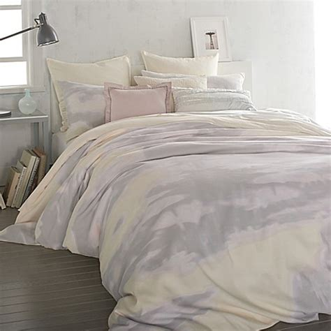 dkny mirage duvet cover in butter bed bath beyond