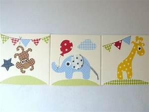 Motive Für Babyzimmer : drei wundersch ne stoffbilder auf keilrahmen f r s ~ Michelbontemps.com Haus und Dekorationen