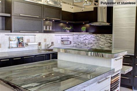 comptoir cuisine stratifié cuisine nargi cuisine polyester comptoir stratifié portes de vitres givrées