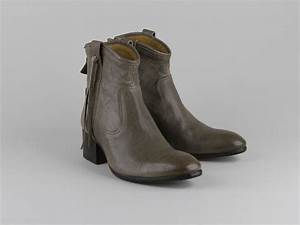 Chaussures Atelier Voisin / ORIA / Boots Taupe Cuir Lisse